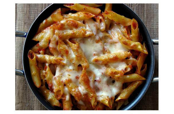 Hearty baked mostaccioli at Tuscan Grill.