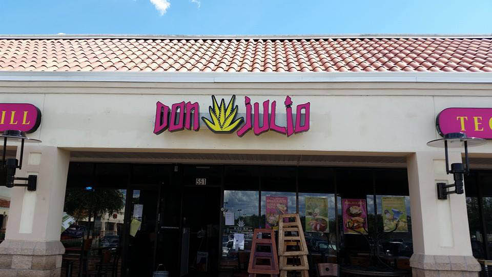 Exterior of Don Julio Mexican Kitchen in Lake Mary, FL