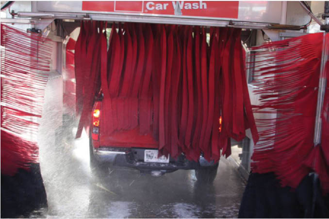 Chevron Car Wash Cleans Dirt & Grime from your Car Exterior.
