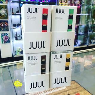 e-juice cartridges and pods; popular e-juice brands