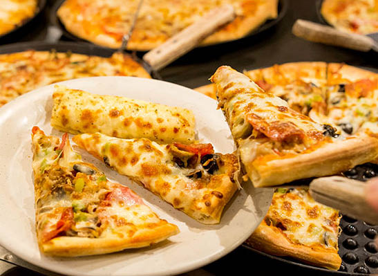 Pizza, Chicken, Salad, Buffet, Dessert, Catering, Take Out, Dine In