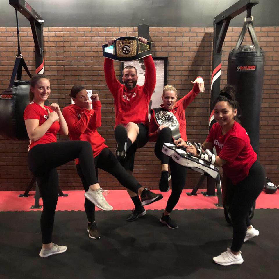 Nine workout stations with personal trainers at 9Round 30 Min Kickbox Fitness - Gig Harbor, Washington - Gig Harbor health clubs near me - kickboxing - fitness club coupons