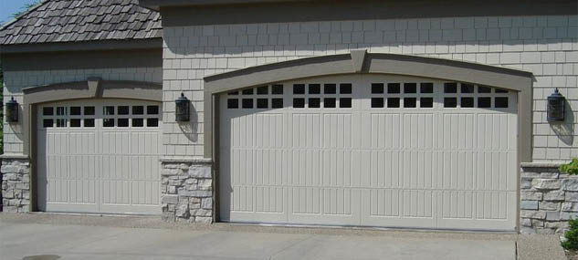 A painted garage door adds appeal to your home style