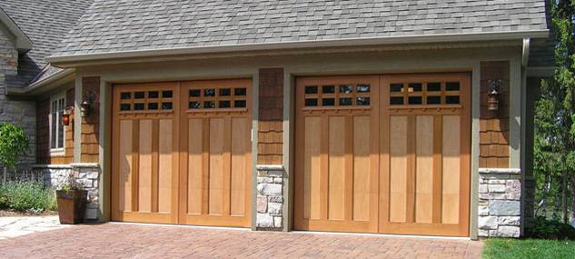 We Service And Install Raised Wood Panel Garage Doors