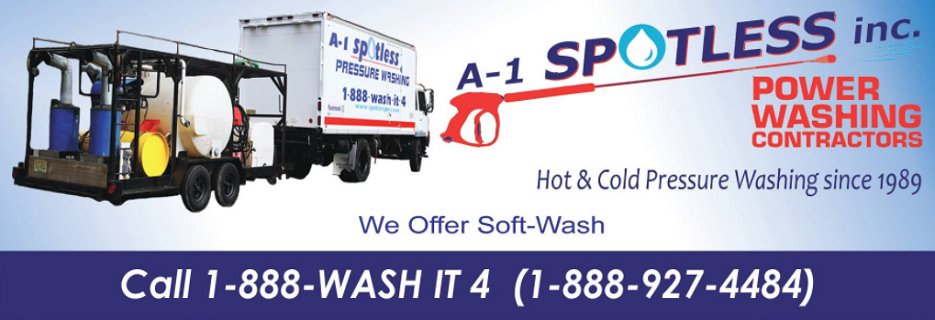 A-1 Spotless Power Washing BAnner