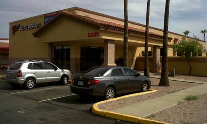 We have a AAA Auto Repair shop location just east of Scottsdale Rd., on McDowell