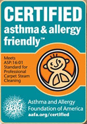allergy asthma friendly carpet cleaning aafa certified Stanley steemer Rochester ny
