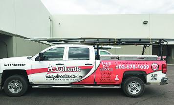 a authentic garage doors truck
