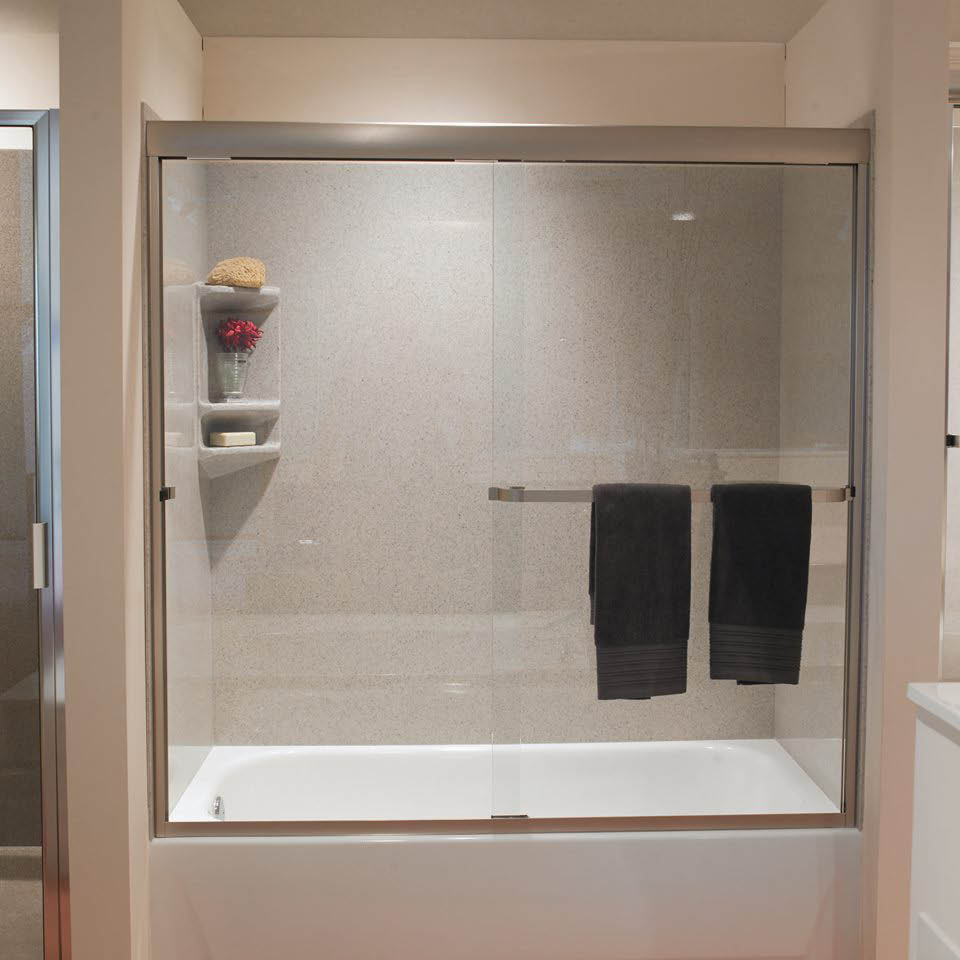 Shower, marble, granite, stone, custom shower surrounds, handicapped showers, shower bases, cultured marble bathtubs, accents
