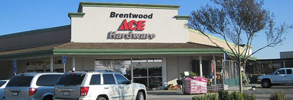 ACE Hardware in Brentwood, CA building exterior storefront banner