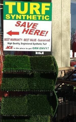 Pittsburg ACE Hardware GRN Envy turf display