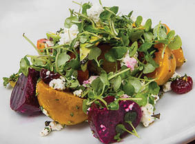 Local ingredients make for fresh seasonal salads with panache
