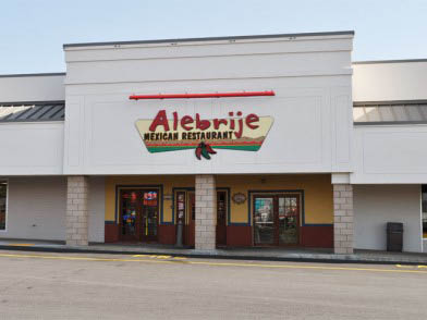 Alebrije Mexican Restaurant in Reading, PA storefront, entrance; Mexican food