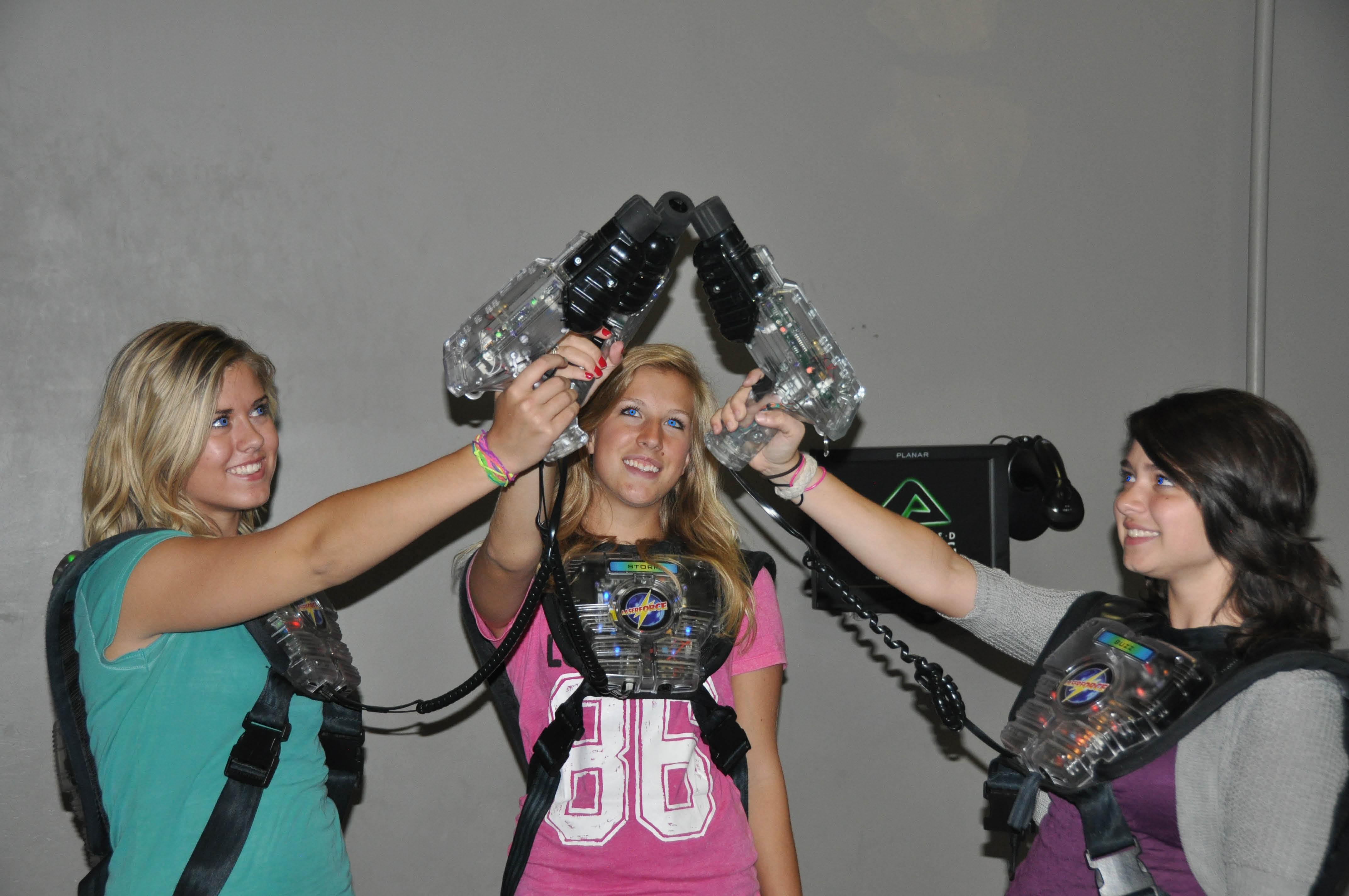 Girls night. Advanced laser tag