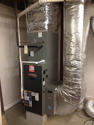 New furnace installed by AQA Heating & Air Conditioning in Hemet, California