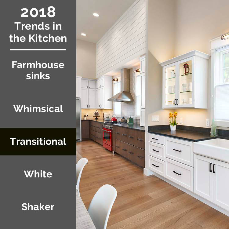 2018 trends, cabinets, transitional design, Haas Cabinets, Kitchen, Bath, Bar, quality custom design