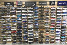 We carry Nike, Saucony, Adidas, Merrell, Golukai, New Balance, Under Armour, and many more.