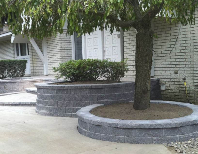 photo of retaining wall created by A & S Hardscaping