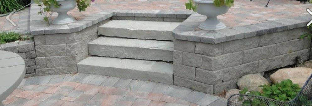 photo of steps created by A & S Hardscaping