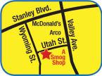 Map for A Smog Shop in Pleasanton, CA