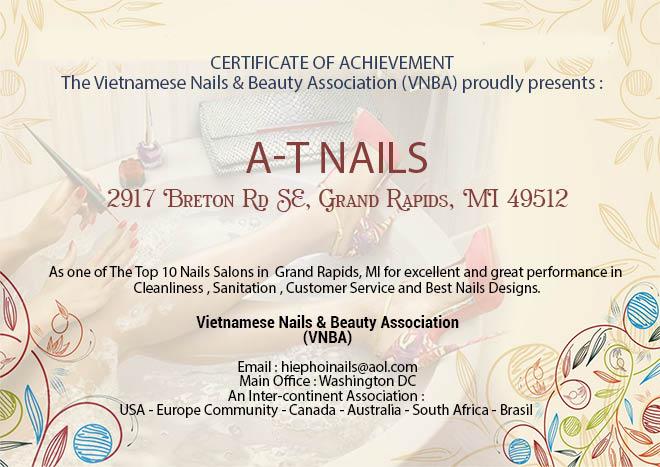 certified top nail salon in grand rapids