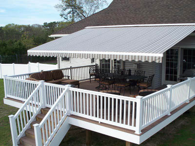Partially covered back deck - ideal for shade and rain protection
