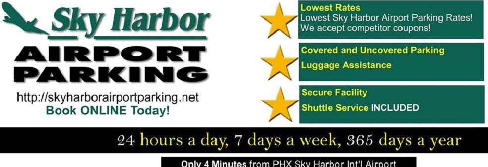 Sky harbor airport parking coupons discounts