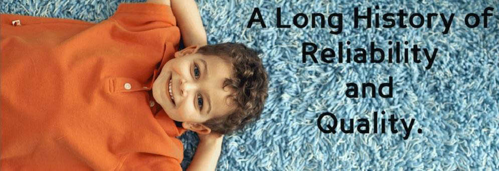 photo of child laying on carpet cleaned by Ace Rug Cleaning in Lansing, MI
