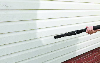 Garage door pressure washing