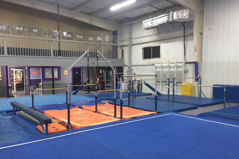 We have gymnastics equipment and qualified instructors.