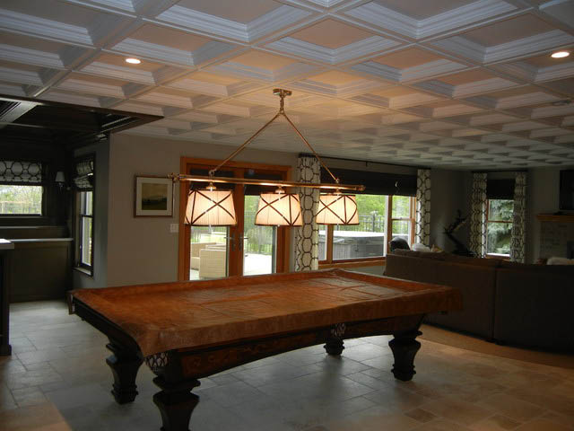 Remodeled Basement Billiard Room