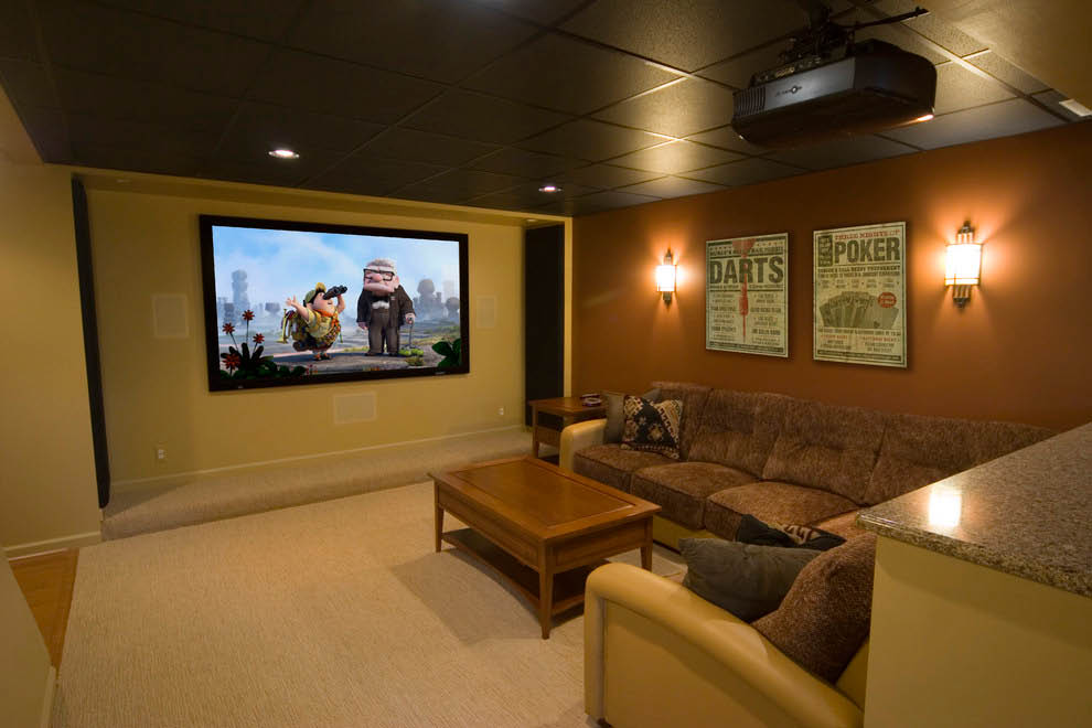 Remodeled Basement Into Home Theater