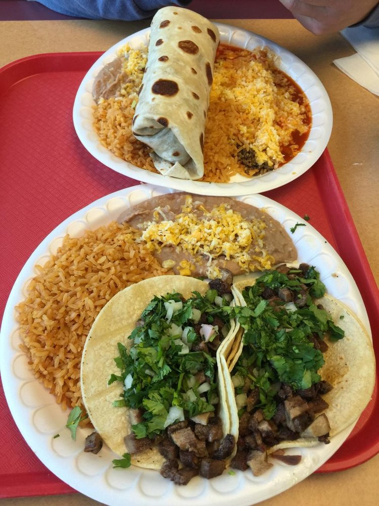 Choose from a single item or a combination plate at Abelardos Mexican Fresh