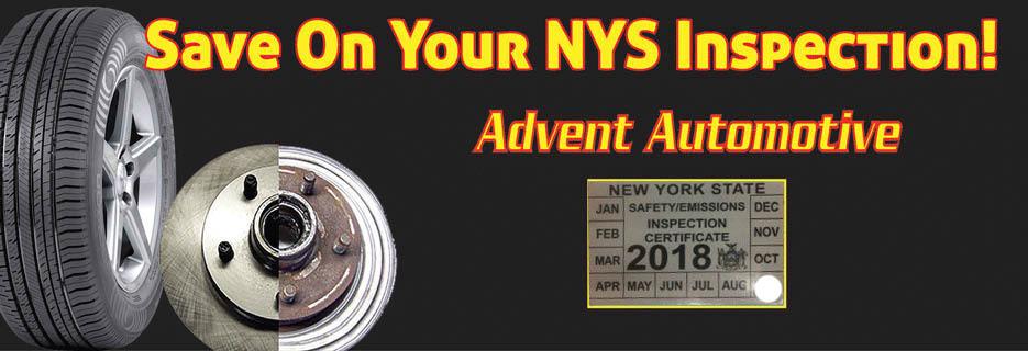 Advent Auto Victor farmington NY car repairs valpak coupon car service