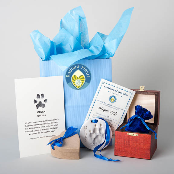 pet cremation, after-care for pets, after care for pets, wood urn, clay paw print, ink paw print, ink nose print, fur clipping, certificate of cremation, guide to grieving the loss of pet