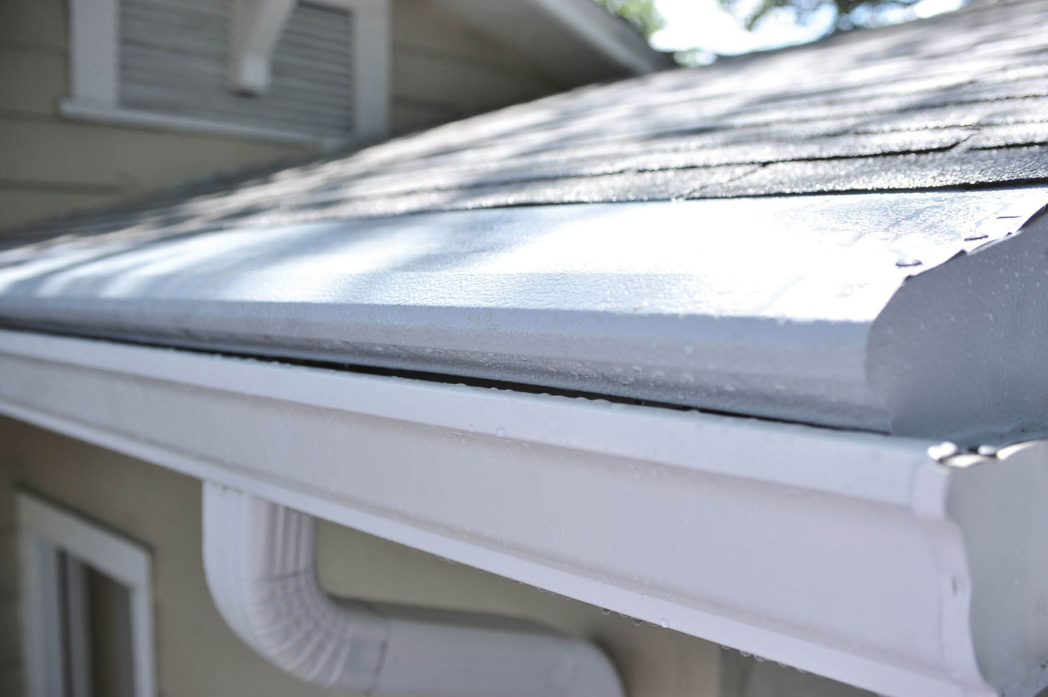 Gutter Helmet before and after gutter covers in Louisville, KY