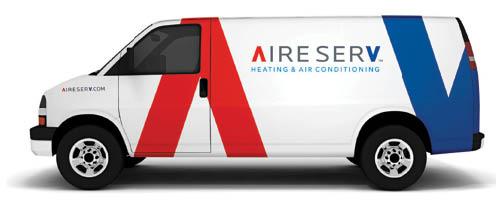 Aire Serv Of The Emerald Coast company van in Destin, FL