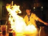 Hibachi chef at Aki Japanese Steakhouse
