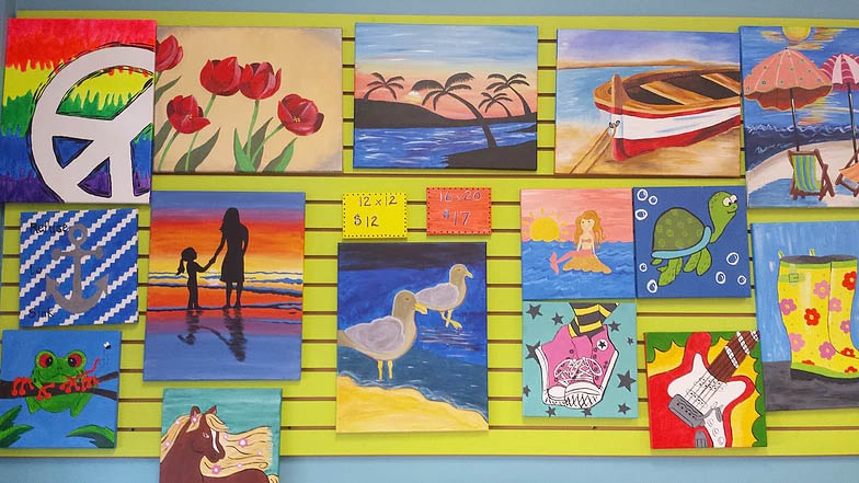 Canvas Painting at A'La Art Studios in Lake Hopatacong NJ