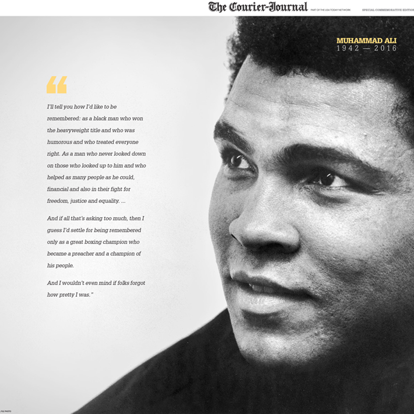 The Courier-Journal coupons and Muhammad Ali Article