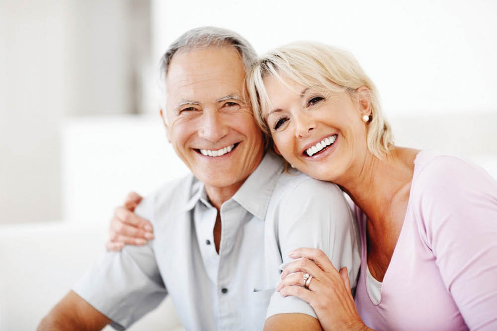 Smiling older couple - Dentures - All Family Dental and Dentures - Edmonds, Washington - Lynnwood, Washington