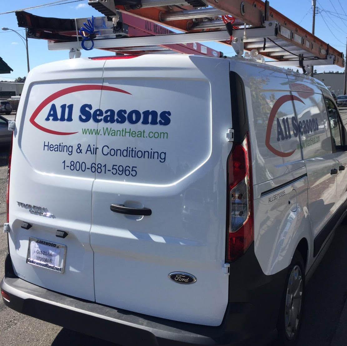 All Seasons Inc truck - Tacoma heating & air conditioning - Tacoma, WA