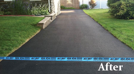 sealcoat,driveway repair,driveway damage,paving,asphalt,discount,deal,all out sealcoat,parking lot repair,