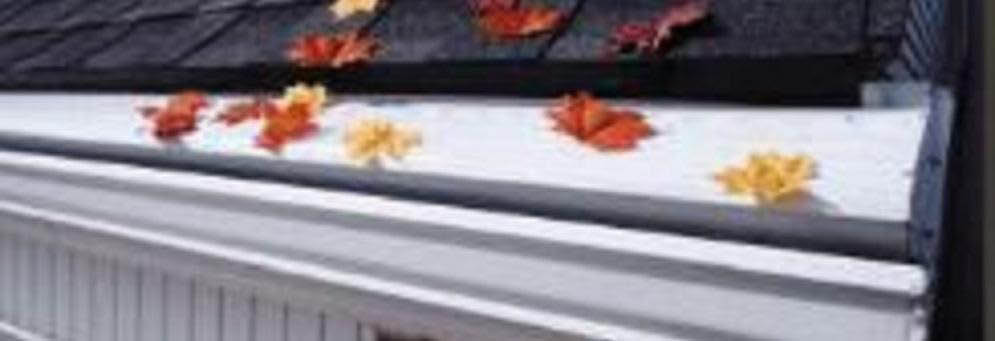 photo of leaves near gutter system from All Phases Home Service in Ann Arbor, MI