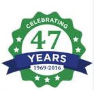 Celebrating 47 years of cleaning service logo; Alpine Specialty Cleaning; air ducts; HVAC; Seattle, WA