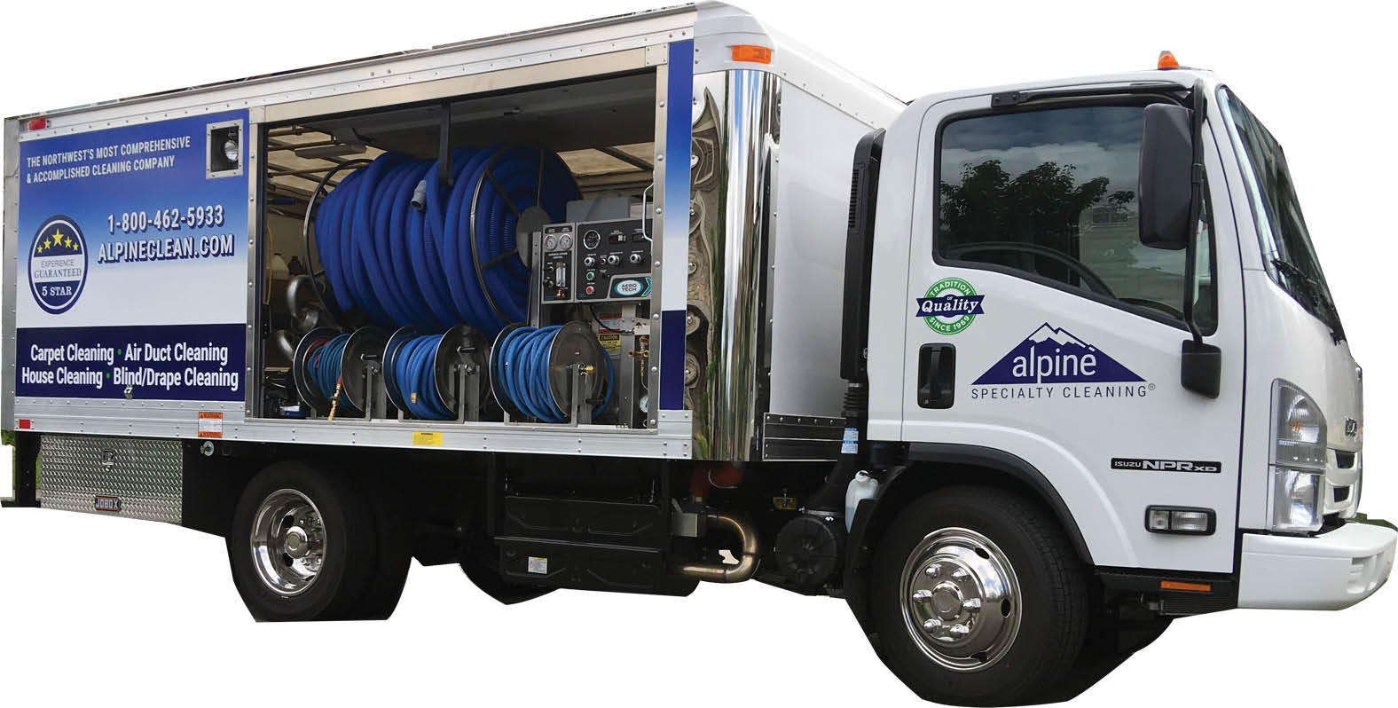 Alpine Specialty Cleaning Ultra-Premium Carpet Cleaning Super Truck