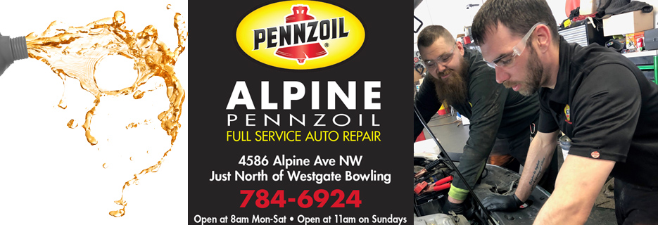 alpine pennzoil oil lube automotive repair maintenance
