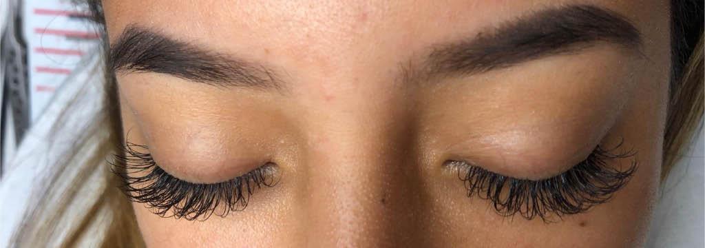 Human Hair Eyelash Install