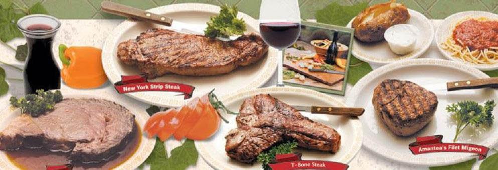 photo of steak meals from Amantea Restaurant in Garden City, MI