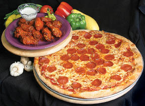 New York pizza and chicken wings near Reseda, CA